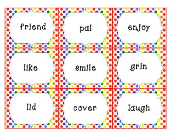 Dollar Deal ~ Synonym Mix and Match Card Game