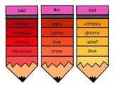 Synonym Pencils for Overused Words (Thesaurus Pencils)