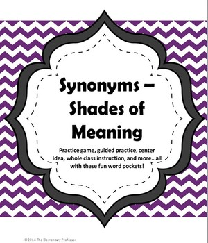 Synonym Pockets - Shades of Meaning - Game/Center/Lesson/Practice