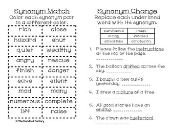 Synonym Poster and Interactive Booklet