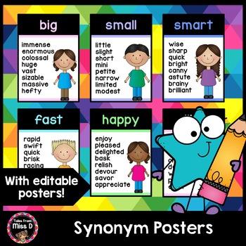 Synonym Posters (Rainbow Pastel)