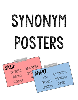 Synonym Posters & Banner