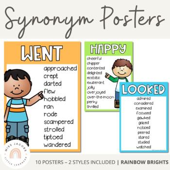Synonym Posters {Rainbow Theme}
