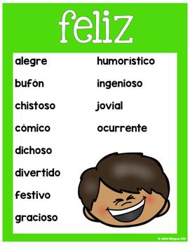 Synonym Posters {SPANISH}