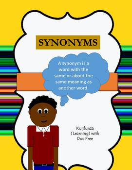 Synonym Practice CCSS.ELA-LITERACY.L.4.5.C;CCSS.ELA-LITERA