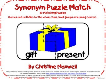 Synonym Puzzle Match-30 Matches