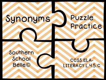 Synonym Puzzle Practice