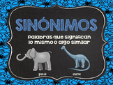 Synonym Puzzle in Spanish