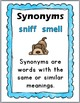 Synonyms Matching Puzzles, Printables, Interactive Flap Book, and Poster