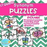 Synonym Puzzles, Synonym Centers, Synonym Cards, Synonym Poster