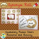 Synonym Roll Vocabulary Pocket Chart
