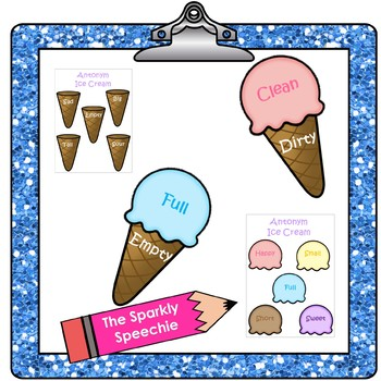 FREEBIE: Synonym Rolls and Antonym Ice Cream