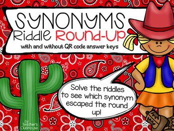 Synonym Round Up {Riddle Series}