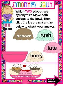 Synonym Sally  A Lesson in Synonyms