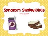 Synonym Sandwiches: A Common Core Aligned Activity