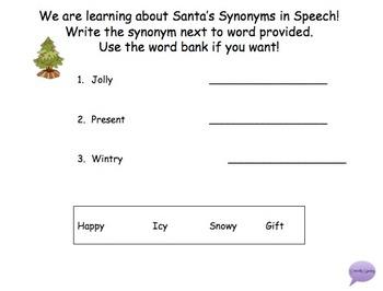 Synonym Santa Packet!