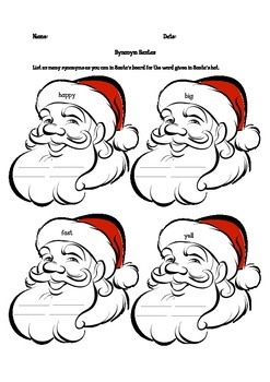 Synonym Santas