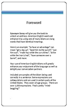 Synonym Savvy by J.D. Hunter