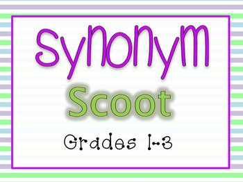 Synonym Scoot Game-30 Cards!