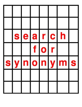 Synonym Search Game