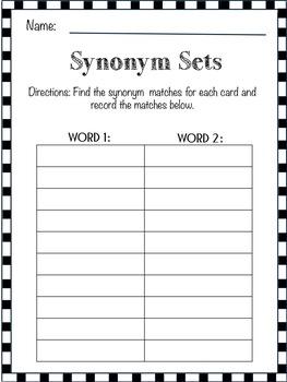 Synonym Sets Center