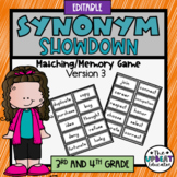 Synonym Showdown Version #3 (3rd/4th grade) EDITABLE