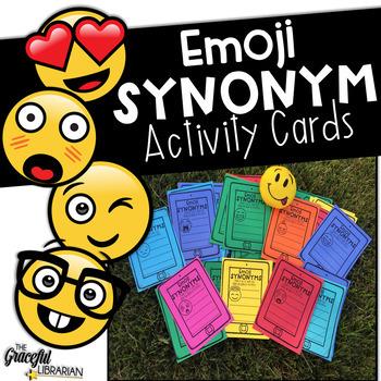 Synonym Skills Emoji Activity Cards
