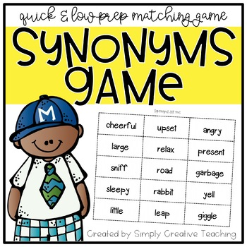 Free grammar teaching resources lesson plans teachers pay teachers synonyms game synonyms game fandeluxe Gallery