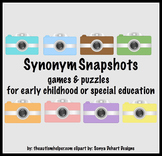 Synonym Snapshots! Games and Puzzles for Special Education