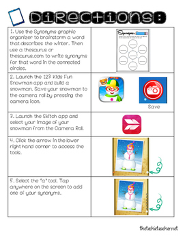 Synonym Snowman Activity for the iPad {FREEBIE}