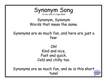 Synonym Song