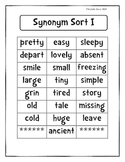 Synonym Sort