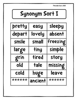Synonym Sort