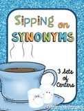 Synonyms Center for 2nd 3rd 4th grade Common Core (Winter Holiday Activities)