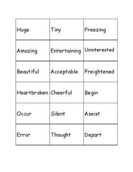 Synonym Sorting Game