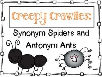 Synonym Spiders and Antonym Ants - a craftivity
