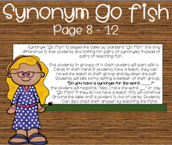 """Synonym """"Spoons"""" & """"Go Fish"""" Games by LittleMissTexas 