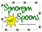 Synonym Spoons Game - Adjectives Edition