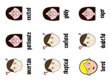 Synonym Spoons Game - Emotions Edition