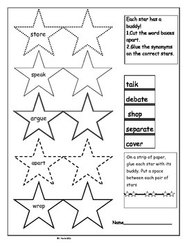 Synonym Stars