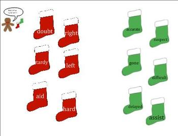 Synonym Stocking and Antler Antonym SMARTboard Lessons