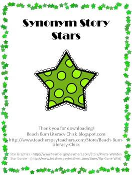 Synonym Story Stars