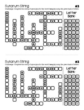 Synonym String: 101 Vocabulary Word Puzzles