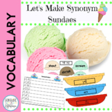 Vocabulary Word Work: Synonym Sundaes