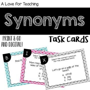 Synonym Task Cards