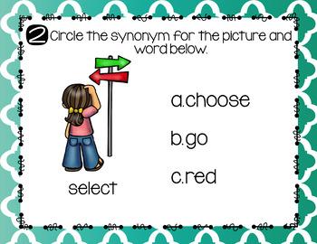 Synonym Task Cards Digital Version