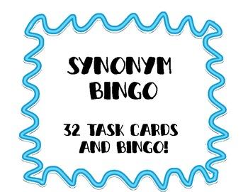 Synonym Task Cards and Bingo!