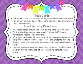 Synonym Task Cards and I Have, Who Has Activity