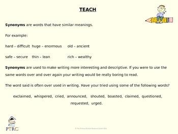 Synonym Teaching PowerPoint