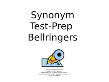 Synonym Test-Prep Bellringers Power Point